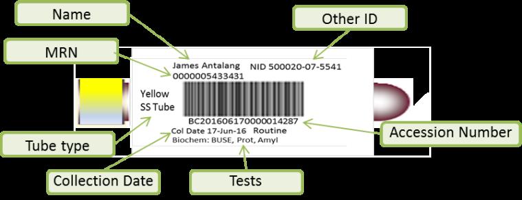 Lab Bar Code Label