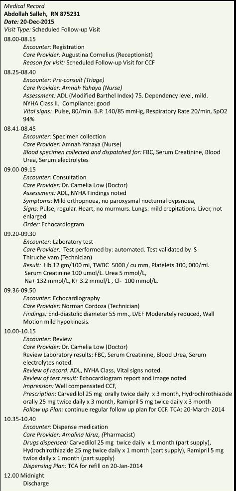 Chronology in EMR